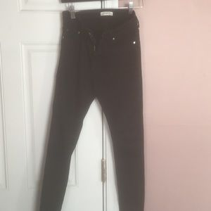 Zara black regular rise skinny jeans